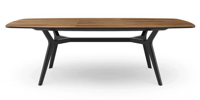 Раскладной стол Johann walnut black 160-220 орех