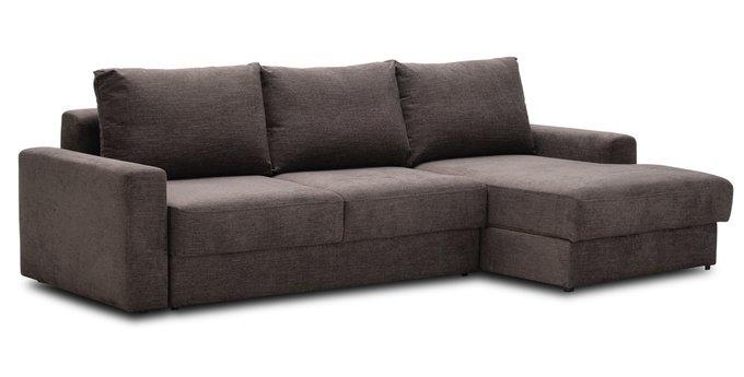 Угловой диван-кровать Вегас темно-коричневого цвета