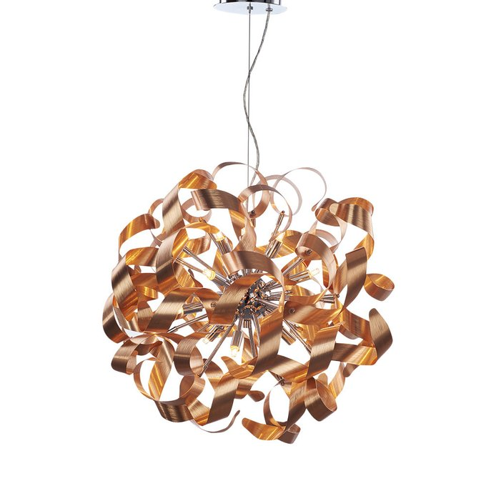 Подвесной светильник Illuminati   из  металлических стружек-завитков