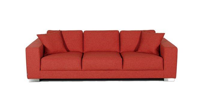 Прямой диван Delta красного цвета