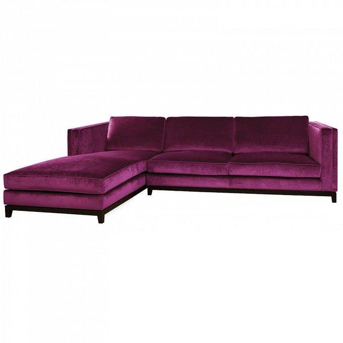 Диван-кровать Simba с обивкой фиолетового цвета