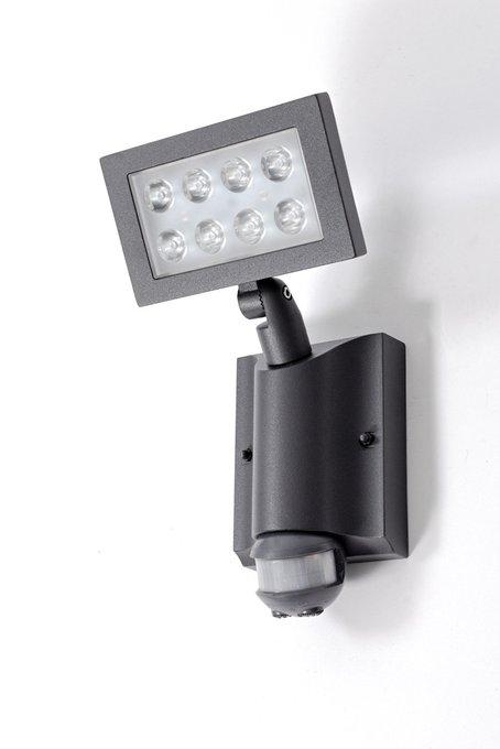 Прожектор настенный прямоуг   с датчиком
