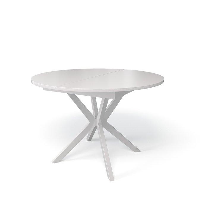 Стол обеденный Corvus раскладной цвета белый глянец