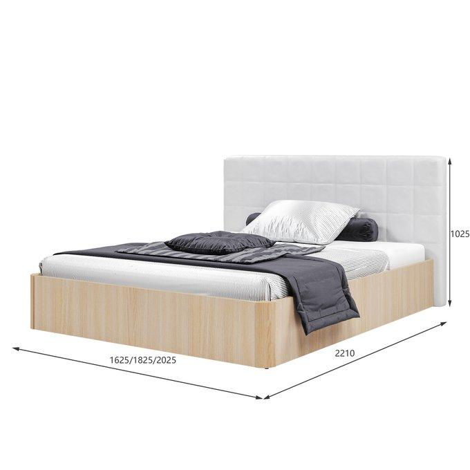 Кровать Магна 160х200 с белым изголовьем и подъемным механизмом