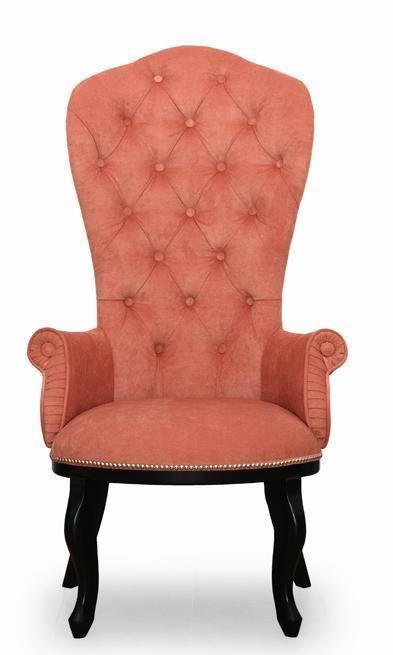 Кресло Классик дизайн 1 розово-оранжевого цвета