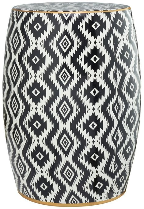 Керамический Табурет бело-черного цвета
