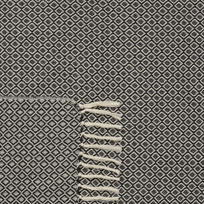 Плед Chemps черно-белого цвета 130x170