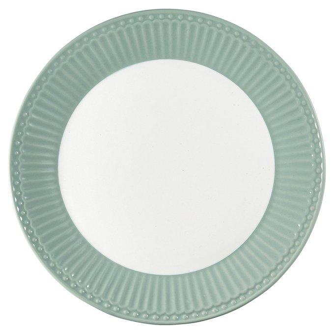 Тарелка Alice dusty mint из фарфора