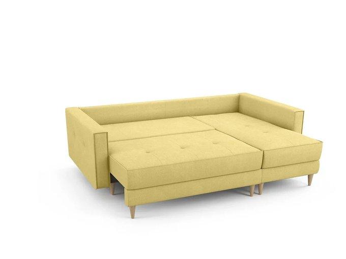 Угловой Диван-кровать Отто  правый желтого цвета