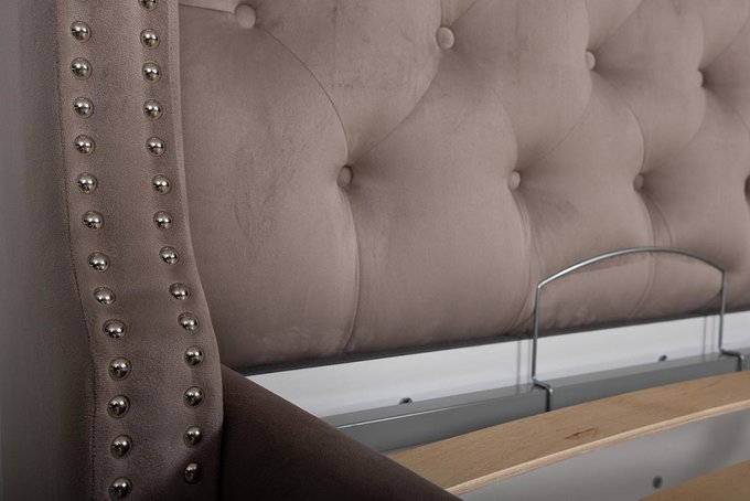 Кровать Louisiana серого цвета с подъемным механизмом 160х200