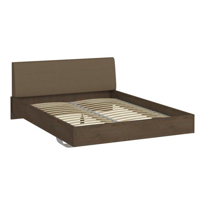 Кровать Сиена 140х200 коричневого цвета