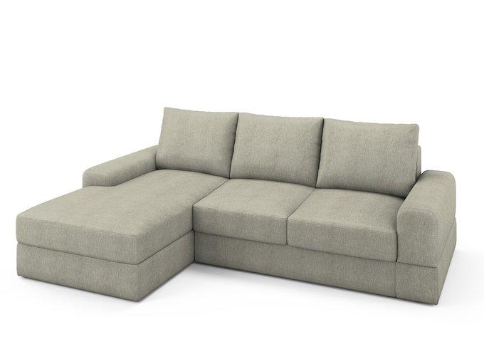 Угловой раскладной диван Elke левый бежевого цвета