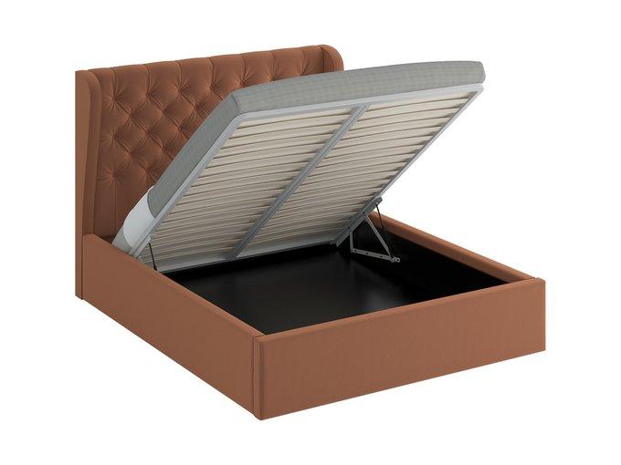 Кровать Jazz Lift коричневого цвета 180х200