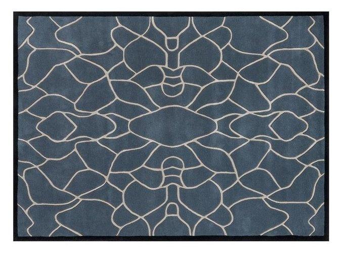 Ковер Garden Secret бело-синего цвета 200x300