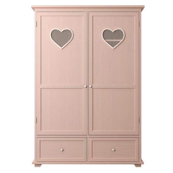 Шкаф двустворчатый Adelina в розовом цвете