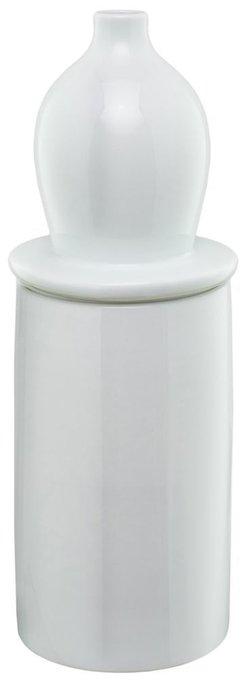 """Ваза настольная """"Container Ceramic milk white"""""""