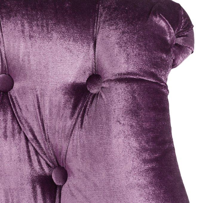 Кресло Sophie Tufted Slipper Chair фиолетового цвета