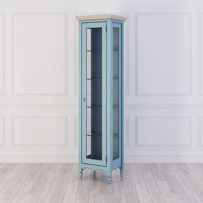 Витрина Leblanc L левая  голубого цвета