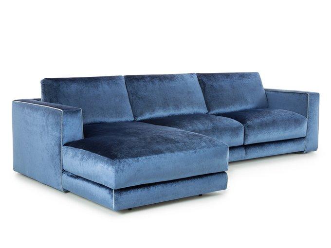 Угловой диван Аризона buono синего цвета