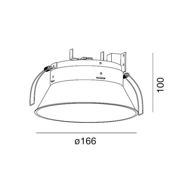 Встраиваемый светильник Wever & Ducre DEEP WHITE FROSTED из анодированного алюминия
