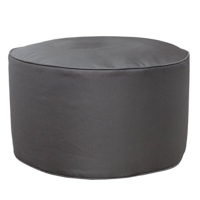 Круглый пуф Silver серого цвета
