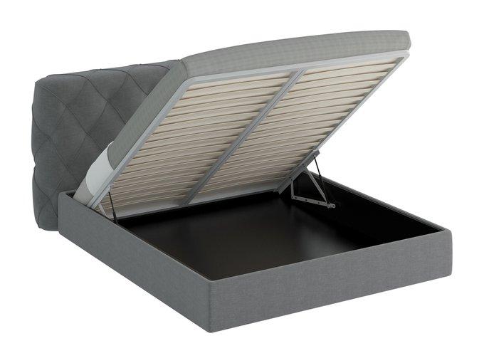 Кровать Ember серого цвета 180х200