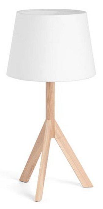 Настольная лампа Faro Hat с белым абажуром