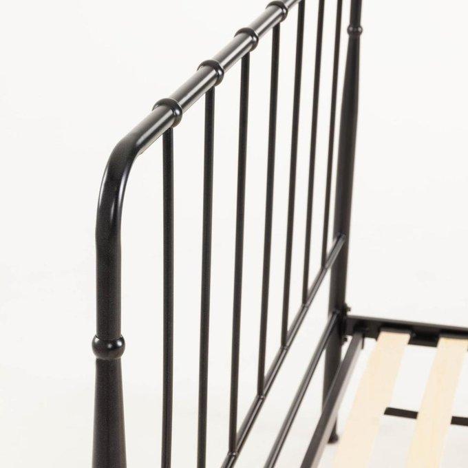 Кровать Naomy черного цвета 160x200