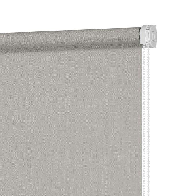 Рулонная штора Миниролл Апилера серого цвета 60x160