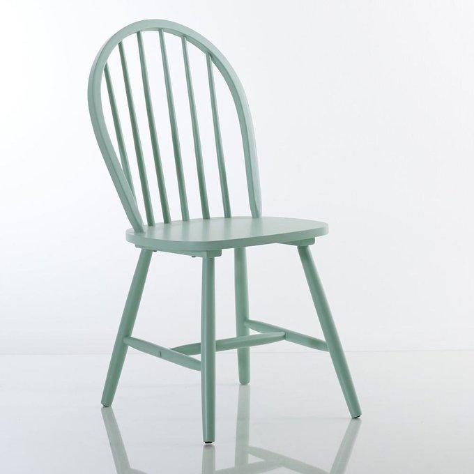 Комплект из двух стульев Windsor зеленого цвета