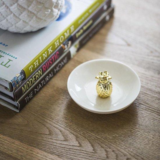 Керамическая подставка Pineapple Gold