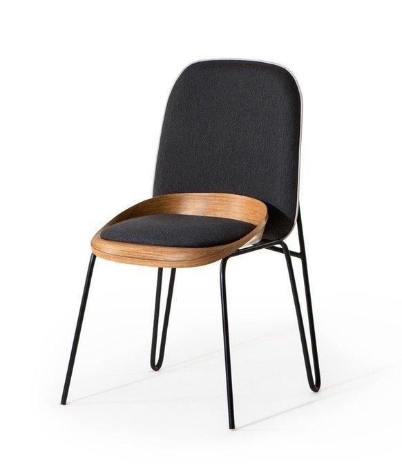 Кухонный стул Nue Дуб черного цвета
