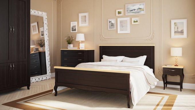 Кровать Кассис из массива бука 160х200