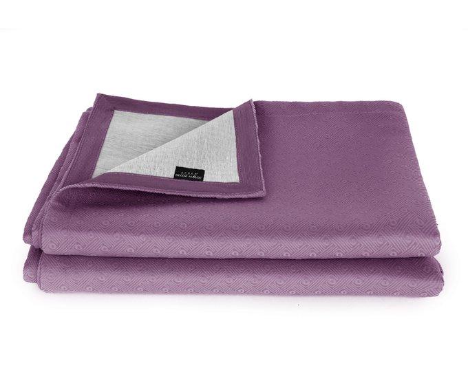 Покрывало Uno Vertikale Purple 140x210 пурпурного цвета