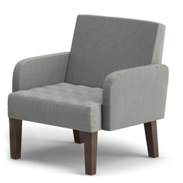 Мягкое кресло Квадро серого цвета