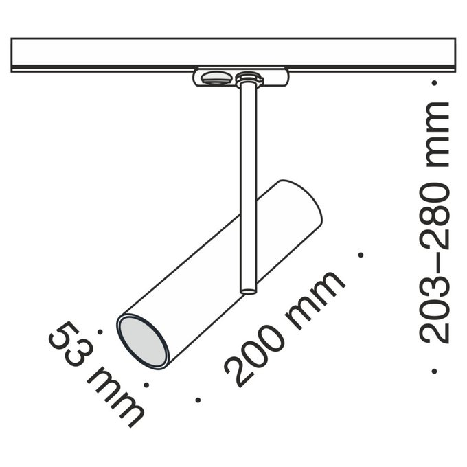 Трековый светодиодный светильник Track черного цвета
