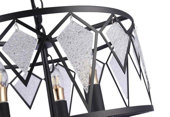 Подвесная люстра Tredici из металла и стекла