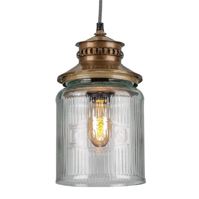 Светильник подвесной из металла и стекла
