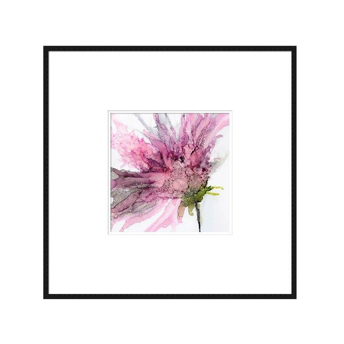 Квадратный постер Ode to the Summer: Lilac в тонкой раме