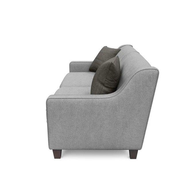 Трехместный диван Агата L серого цвета