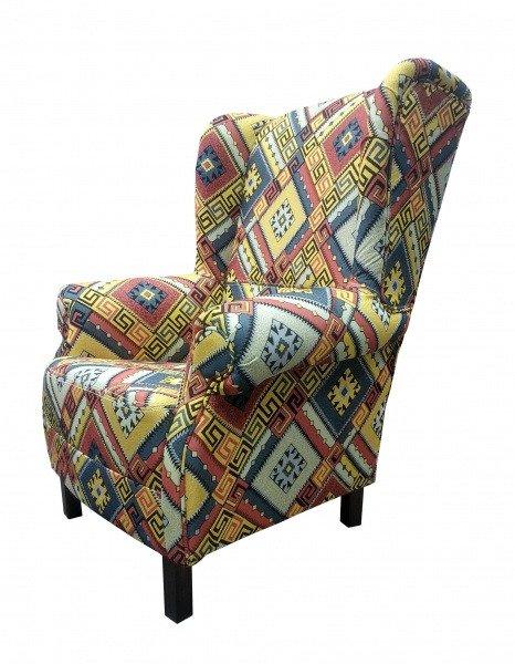 Кресло Марракеш желто-синего цвета