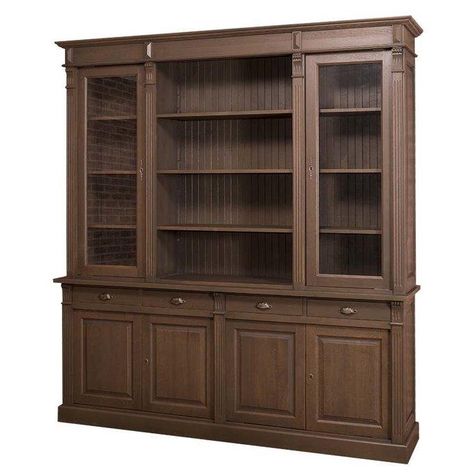 Шкаф для гостиной Брюгге коричневого цвета