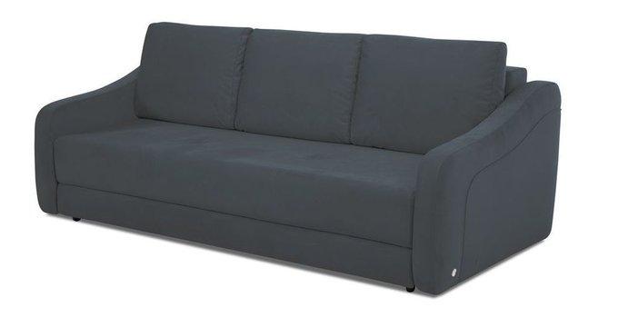 Прямой диван-кровать Иден черного цвета