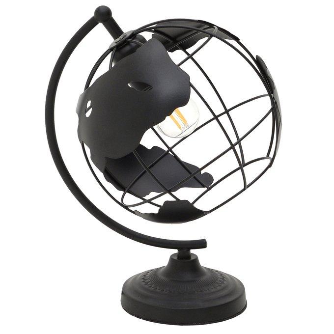 Настольная лампа Глобус черного цвета