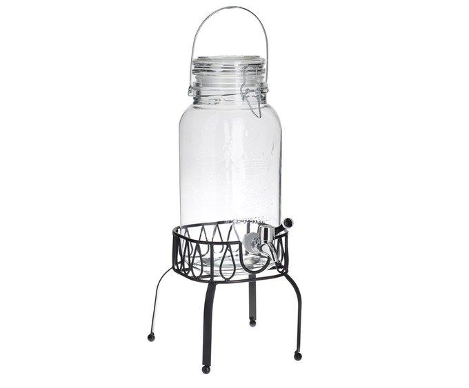 Стеклянный бутыль с крышкой и краном
