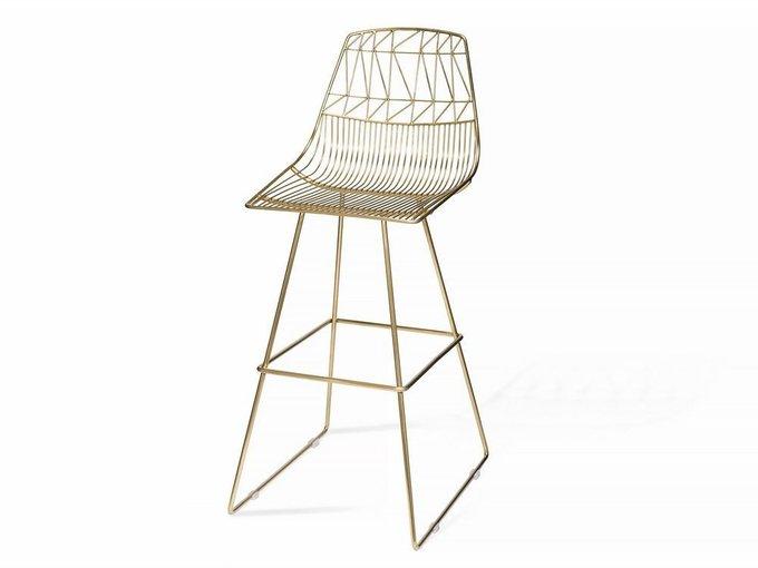 Барный стул Milano золотого цвета