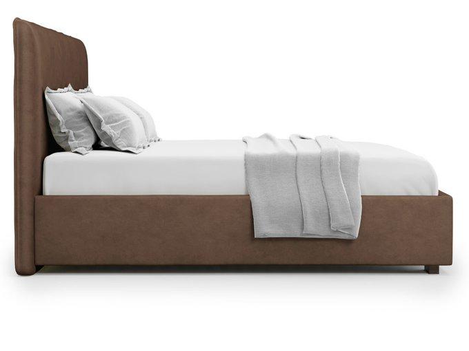 Кровать Brachano 160х200 коричневого цвета с подъемным механизмом