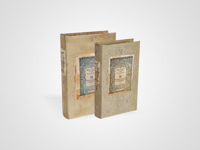 Набор из 2 шкатулок в виде старинных книг