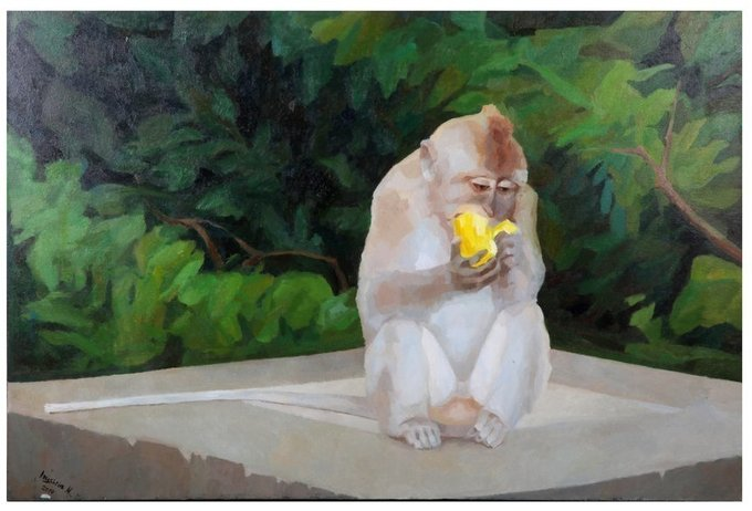 Постер MONKEY WITH BANANA L