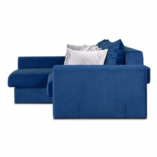 Угловой диван-кровать Мэдисон Лувр синего цвета